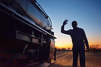 Black men say goodbye to Livingstone Express luxury train. The ROYAL LIVINGSTONE EXPRESS is a steam train built in the 1920s with PULLMAN-style carria...