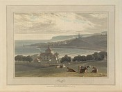 Banff city and port. The coastline and landscape of Great Britain. Drawn and engraved by William Daniell, Author Richard Ayton, Illustrated by William...