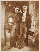D. O. Hill Secretary and W. B. Johnstone Treasurer, Royal Scottish Academy. Full-length standing portrait of David Octavius Hill (1802-1870) and Willi...