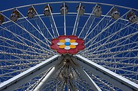 "The new ""Blumenrad"" Ferris Wheel in the Prater, Vienna, Vienna State, Austria"