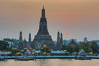 Thailand, Asia, Bangkok, Wat Aron, architecture, colourful, famous, skyline, sunset, symbol, touristic, travel, temple,