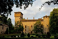 Italy, Emilia Romagna, Grazzano Visconti, the Visconti Castle