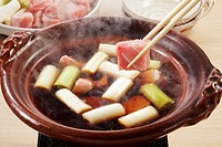 Negima nabe Tuna and Leek Hot Pot