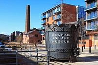 Kelham Island Museum and Riverside apartments, Sheffield, South Yorkshire, England, UK.