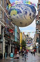 England, London, Carnaby Street. A view along Carnaby Street in Soho.