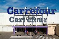 Carrefour Supermarket Les Milles Aix-en-Provence Provence France.