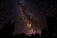 The Milky Way over the Palisades, John Muir Wilderness, Sierra Nevada Mountains, California USA.