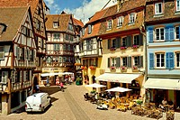 Half-timbered Houses in the old Town of Colmar, France