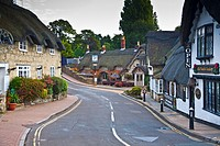 The old village of Shanklin on the Isle of Wight in England.