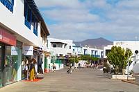 Calle Limones street, Playa Blanca, Lanzarote, Canary Islands, Spain, Europe.