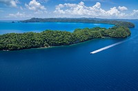 Diving boat, Palau, Micronesia