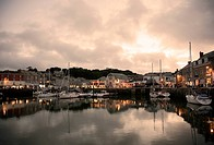 View of Padstow, Cornwall, UK - evening