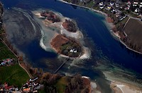 Werd Island in the course of the river Rhine in the city Stein am Rhein in the canton of Schaffhausen in Switzerland. - Stein am Rhein, Schaffhausen, ...