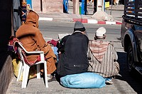 Men talking on the streets, Morocco.