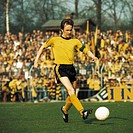 football, 2. Bundesliga Nord, 1975/1976, Lohrheide Stadium, SG Wattenscheid 09 versus Borussia Dortmund 2:1, scene of the match, team leader Helmut Ne...