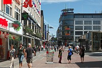 D-Kiel, Kiel Fjord, Baltic Sea, Schleswig-Holstein, midtown, Holsten Street, shopping promenade, pedestrian zone, business premises, department stores...