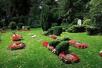 D-Kiel, Kiel Fjord, Baltic Sea, Schleswig-Holstein, Suedfriedhof, South Cemetery, graves, children graves - Kiel, Schleswig-Holstein, Germany, 29/06/2...