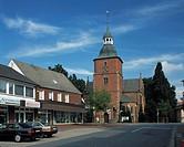 D-Vechta, Oldenburger Muensterland, Niedersachsen, Probsteikirche St. Georg, Pfarrkirche D-Vechta, Oldenburger Muensterland, Lower Saxony, parish chur...