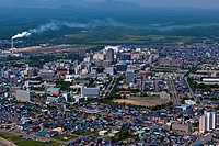 Aerial view of Tomakomai city, Tomakomai City