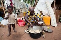 Displaced christians have taken refuge at the catholic mission.