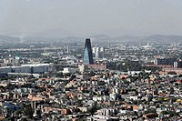 View from Torre Latinoamericana, 182m, of Mexico City, Federal District, Mexico