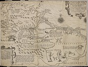 A map of a newly discovered land of America. Central America or South America, Americae pars sexta. Siue Historiae ab. scriptae, sectio tertia. In hac...