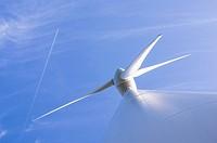 Blades of an Enercon E66 Wind Turbine in Schernham. Austria