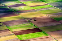 Different colours in the farm land, Mallorca lands, Balearic Island, Spain.