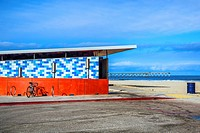 Public restroom at Ocean Beach. San Diego, California, United States.