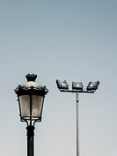 modern and lamp posts, Valencia, Spain.