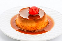 egg custard dipped in syrup.