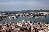 Overlooking Harvour From Dalt Vila in Ibiza Town - Ibiza.