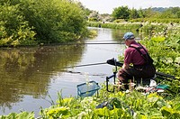 Anglers on the Staffordshire and Worcestershire Canal in the Black Country, England.