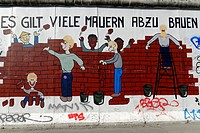 Mural, East Side Gallery, Berlin Wall Gallery, Berlin, Germany