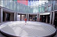 Frankfurt am Main, Schirn Kunsthalle art gallery. Marina Apollonio. Spazio ad attivazione cinetica