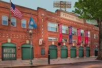 Fenway Park at Yawkey Way in Boston, Massachusetts, Gate A entrance to the baseball stadium with the Best of Boston sign on one of the gates. Fenway P...