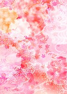 Oriental background with maple leaf