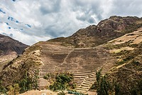 Pisac, Incas ruins in the peruvian Andes at Cuzco Peru