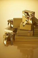 Gold Wrapped Gifts