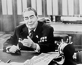 General Secretary Of Central Committee Of CPSU Leonid Brezhnev In Moscow