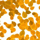 yellow leaves over white background