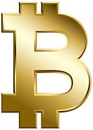 Computer generated bitcoin symbol