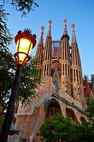 Basilica of the Sagrada Familia by Antonio Gaudí, Barcelona, Catalonia, Spain