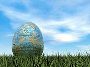 Easter egg - 3D render