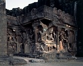 Kailasanathar Temple, Hindu Cave 16, Ellora (Unesco World Heritage List, 1983), Maharashtra, India, 5th-7th century.