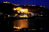 Bundi Palace at night, Rajasthan, India