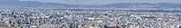 Panoramablick auf Osaka und Toyonaka / Panorama view of Osaka bay from the surrounding mountains