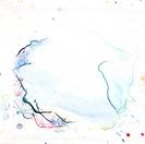Textur aus abstrakten Aquarell auf weissen Untergrund