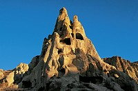 Convent monastery (Kizlar Manastiri), Goreme Valley (UNESCO World Heritage List, 1985), Cappadocia, Turkey.