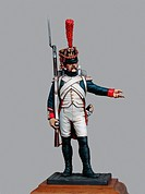 Sergeant of the Fusiliers-Grenadiers of the Imperial guard, 1809, 5.4 cm, toy soldier from the Napoleonic era, made by Bruno Leibovitz, Metal Modeles ...